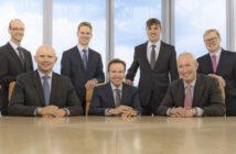 Geschäftsleitung der PROJECT Investment Gruppe von links nach rechts: Ralf Cont, Alexander Schlichting, Thomas Lück, Wolfgang Dippold, Matthias Hofmann, Mathias Dreyer, Jürgen Uwira