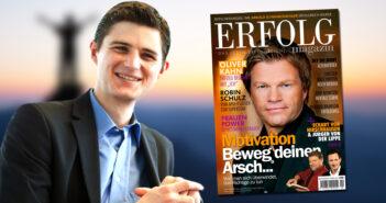 Verleger Julien Backhaus freut sich über den neuen Titel ERFOLG